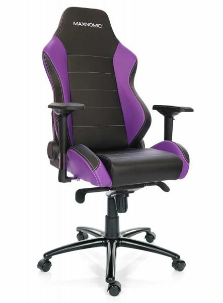 fauteuil gamer violet noir maxnomic pro-chief PUE maxnomic