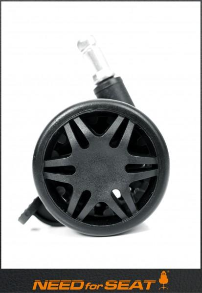 roulettes + freins noir maxnomic
