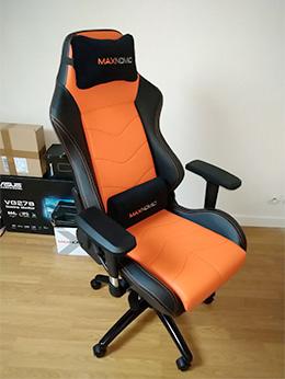 siege gamer maxnomic dominator orange