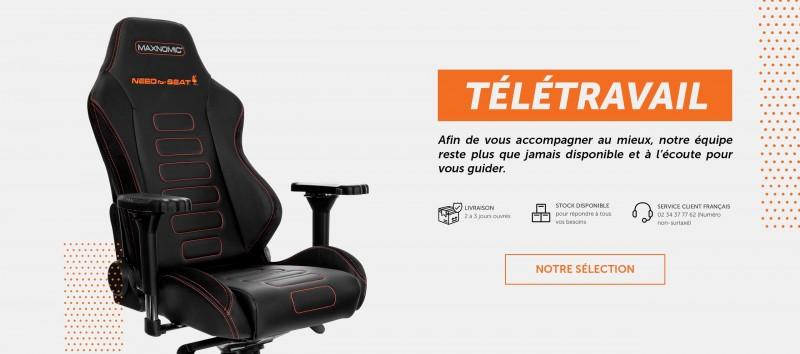Chaise de bureau adaptée pour le télétravail