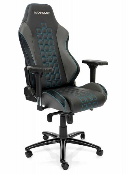 siège gamer sobre bleu maxnomic quadceptor pro 1