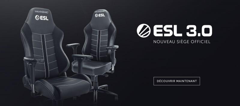 Visuel siège gamer ESL 3.0